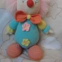 Játékbohóc, Játék, Baba játék, Horgolás, Akrilfonalból készült játékbohóc. Mérete - 28 cm, Meska
