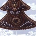 """A mi fánk (Karácsonyi dekoráció) , Dekoráció, Ünnepi dekoráció, Dísz, Hímzés, Horgolás, A mi fánkat magyaros motívumokkal díszítettem. A fehérre festett \\\\\\\\\\\\\\\\\\\\\\\\\\\\\\\""""ka..., Meska"""