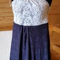 Kék-fehér női hálóing, Ruha, divat, cipő, Női ruha, Fehérnemű, Varrás, Kényelmes, és egyúttal nagyon nőies és egyedi hálóing, ami puha, rugalmas pamutból és csipkéből kés..., Meska