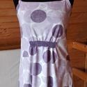 Lila pöttyös női hálóing, Ruha, divat, cipő, Női ruha, Fehérnemű, Varrás, Kényelmes, és egyúttal nagyon nőies és egyedi hálóing, ami puha, rugalmas pamutból készült, csipke ..., Meska