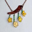 Aranyeső virág tűzzománc nyaklánc, Ékszer, óra, Nyaklánc, Tűzzománc, Aranyeső virágot imitáló tűzzománc nyaklánc.  A tavasz hírnöke, ha meglátod biztos lehetsz hogy a t..., Meska