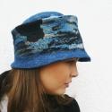 Nemez kalap sapka gyapjú és selyem - kék, Ruha, divat, cipő, Kendő, sál, sapka, kesztyű, Sapka, Nemezelés, Nemez női kalap ausztrál merinó gyapjú és selyem.  Kézzel készült, nemezelési technikával. 100% ter..., Meska