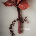 """Különleges nemez virág """"Örök csokor"""" , Esküvő, Esküvői csokor, Esküvői dekoráció, Meghívó, ültetőkártya, köszönőajándék, Nemezelés, Varrás, Szerintem az élő virágnál nincs szebb. :) Ha mégis kézzel alkotott díszt választanék, akkor azért t..., Meska"""