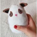 Grumpy cat Plüss, Játék, Baba-mama-gyerek, Plüssállat, rongyjáték, Polárból készült pici grumpy cat. Lenyelhető része nincs, azonban gyömöszölni való teste igen. ( : N..., Meska