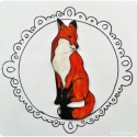 Rókás kitűző, Ékszer, óra, Bross, kitűző, Fehér zsugorkára rajzoltam ezt a rókát. Sütöttem majd lakkal fixáltam. A kitűző magassága 5 cm. Hátá..., Meska