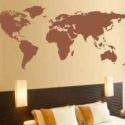 Faltetoválás , falmatrica világtérkép nagyon OLCSÓN, Otthon, lakberendezés, Dekoráció, Falmatrica, Mindenmás, Fotó, grafika, rajz, illusztráció, NG Kreatív Exkluzív lakás dekoráció: Világtérkép  Fekete színben, 46x105 cm méretben, ára: 999 Ft  F..., Meska