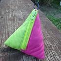 Pink és zöld  pénztárca, Táska, Pénztárca, tok, tárca, Pénztárca, Erszény, Varrás, Pink és zöld színű  pamut vászonból készítettem ezt a pénztárcát, tasit.  Tartsd benne kincseidet, ..., Meska