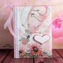 Hőlégballonos esküvői fotóalbum (54), Esküvő, Naptár, képeslap, album, Nászajándék, Fotóalbum, Decoupage, szalvétatechnika, Festett tárgyak, Gyönyörű, kisméretű esküvői fényképalbum, melybe az ifjú pár beleteheti a nagy napot megörökítő fot..., Meska