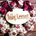 """""""Boldog Karácsonyt"""" Mikulásvirágos ajtódísz, Dekoráció, Otthon, lakberendezés, Lakástextil, Dísz, Varrás, Ezt az ajtódíszt pamutvászon anyagból varrt kis szívecskékből készítettem és fa táblácskát illeszte..., Meska"""