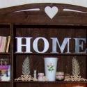 HOME felirat, egyedi beltéri dekorációs elem, Dekoráció, Baba-mama-gyerek, Falmatrica, Gyerekszoba, Festett tárgyak, Mindenmás, Egyedileg festett, díszített polisztirol habbetűk készítünk igény szerinti színvilág, egyéni/egyedi..., Meska