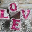 BETŰKOCKÁK - pink LOVE kockák - dekoráció, fotózási kellék, Dekoráció, Baba-mama-gyerek, Falmatrica, Gyerekszoba, Festett tárgyak, Mindenmás, Egyedileg díszített polisztirol habkockákat készítünk igény szerinti színvilág, egyéni/egyedi stílu..., Meska
