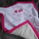 EPRES álom - pink pöttyös babatakaró, Baba-mama-gyerek, Baba-mama kellék, Gyerekszoba, Falvédő, takaró, Ágynemű, Takaró, ágytakaró, Varrás, Pink pöttyös babatakarót készítettünk kisbabád számára. A babatakaró egyik oldala pihe-puha wellsof..., Meska
