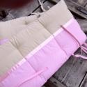 Rózsaszín madárkás ágyneműszett, Baba-mama-gyerek, Gyerekszoba, Falvédő, takaró, Ágynemű, Varrás, Vidám madárka applikációval díszített babatakarót, gyerektakarót készítettünk.  A babatakaró, ágyne..., Meska