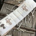 Beige applikált ágynemű - takaró+párna, Baba-mama-gyerek, Gyerekszoba, Falvédő, takaró, Festett tárgyak, Mindenmás, Egyedi, különféle vidám, színes textilekből készített, applikációkkal ellátott baba- gyerektakaró és..., Meska