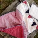 TENGERÉSZ ágynemű - piros-kék - takaró+párna, Baba-mama-gyerek, Gyerekszoba, Falvédő, takaró, Festett tárgyak, Mindenmás, Egyedi, különféle vidám, színes textilekből készített, applikációkkal ellátott baba- gyerektakaró é..., Meska