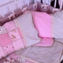 Rózsaszín pöttyös-beige PÁRNA, Baba-mama-gyerek, Gyerekszoba, Falvédő, takaró, Baba-mama kellék, Varrás, Egyszerű formájú, pihe-puha tapintású, divatos, visszafogott színekből álló párna minden szoba remek..., Meska