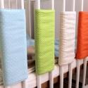 SZÍNES tépőzáras rácsvédő SZETT - zöld pöttyös   beige csíkos, Baba-mama-gyerek, Gyerekszoba, Falvédő, takaró, Baba-mama kellék, Varrás, Vidám színekben pompázó tépőzáras megoldású rácsvédőket készítettünk.  Bármilyen neked tetsző színö..., Meska