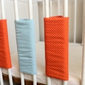 SZÍNES tépőzáras rácsvédő SZETT - kék   narancsárga pöttyös, Baba-mama-gyerek, Gyerekszoba, Falvédő, takaró, Baba-mama kellék, Varrás, Vidám színekben pompázó tépőzáras megoldású rácsvédőket készítettünk.  Bármilyen neked tetsző színö..., Meska