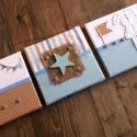 Beige ÁLLATKÁS falikép kollekció babaszobába, gyerekszobába, Baba-mama-gyerek, Dekoráció, Gyerekszoba, Baba falikép, Mindenmás, Beige-kék vidám kisfiús falikép kollekciót, babaszoba dekorációt készítettünk.  A képen látható tri..., Meska
