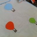 LÉGGÖMB ágynemű - takaró+párna, Baba-mama-gyerek, Gyerekszoba, Falvédő, takaró, Festett tárgyak, Mindenmás, Egyedi, különféle vidám, színes textilekből készített, applikációkkal ellátott baba- gyerektakaró é..., Meska