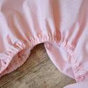 Gumis lepedő - rózsaszín kispöttyös, Baba-mama-gyerek, Gyerekszoba, Falvédő, takaró, Varrás, Egyedi, különféle vidám, színes textilekből gumis lepedőt készítettünk.  Ha szeretnéd elkészítjük m..., Meska