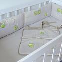 UHU - Egyedi applikált rácsvédő babaágyba , Baba-mama-gyerek, Gyerekszoba, Falvédő, takaró, Baba-mama kellék, Varrás, Vidám, kedves és egyedi rácsvédőt készítettünk babaágyba, egyedileg elképzelt applikációkkal.    A ..., Meska