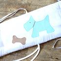 Kutyusos - Egyedi applikált rácsvédő babaágyba , Baba-mama-gyerek, Gyerekszoba, Falvédő, takaró, Baba-mama kellék, Varrás, Vidám, kedves és egyedi rácsvédőt készítettünk babaágyba, egyedileg elképzelt applikációkkal.    A ..., Meska