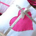 PINK-szürke rácsvédő párnaszett babaágyba, Baba-mama-gyerek, Gyerekszoba, Falvédő, takaró, Baba-mama kellék, Varrás, Vidám, csajos 6db 35x35cmes egymáshoz és ágyrácshoz  köthető párnából egyedi megrendelés alapján rá..., Meska