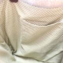 Feliratos zsákvászon táska , Ruha, divat, cipő, Táska, Válltáska, oldaltáska, Szatyor, Varrás, Bőrművesség, Egyesi, stílusos női táska zsákvászonból és pamutvászonból. Pöttyös béléssel és belsőzsebbel van el..., Meska