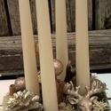 Adventi asztaldísz, arany szarvassal., Dekoráció, Otthon, lakberendezés, Ünnepi dekoráció, Virágkötés, Karácsonyi asztaldísz - minden darab, kézzel - szívvel készítve csak NEKED! Tartós anyagokból készü..., Meska