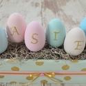 Húsvéti asztaldísz  (tojásláda), Dekoráció, Otthon, lakberendezés, Húsvéti apróságok, Virágkötés, Tartós anyagokból készült egyedi asztaldíszeket készítettünk. Gyönyörű kiegészítő lakásodba, de ajá..., Meska