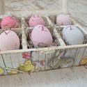 Húsvéti doboz  (tojásokkal), Dekoráció, Otthon, lakberendezés, Húsvéti apróságok, Virágkötés, Tartós anyagokból készült egyedi dobozokat készítettünk. Gyönyörű kiegészítő lakásodba, de ajándékn..., Meska