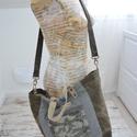 Noanoa táska , Ruha, divat, cipő, Táska, Válltáska, oldaltáska, Szatyor, Varrás, Bőrművesség, Egyedi női vászon táska, eredeti bőr füllel.  Vállon és kézben is hordható. Jellemzők:   -bélés   -..., Meska