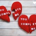 Piros szív alakú puzzle párna, Otthon, lakberendezés, Lakástextil, Párna, Varrás, Valentin napra vagy csak úgy, mert You complete me! Puzzle szív alakú párna piros 100% pamut anyagb..., Meska