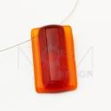 Bordó-narancs rogyasztott üveg nyaklánc, Ékszer, óra, Nyaklánc, Ékszerkészítés, Üvegművészet, Rogyasztott üveg nyaklánc.  Mérete:3x2cm  Sodrony lánccal a kért méretben., Meska