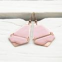 Rózsaszín tűzzománc fülbevaló, Ékszer, óra, Fülbevaló, Ékszerkészítés, Tűzzománc, Rózsaszín tűzzománc fülbevaló.  A réz polírozott, úgy csillog mintha arany lenne :) Réz színű akasz..., Meska