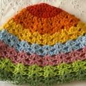 Babasapi a szivárvány színeiben, Ruha, divat, cipő, Kendő, sál, sapka, kesztyű, Sapka, , Meska