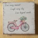 Live, laugh, love fatábla biciklivel, Dekoráció, Otthon, lakberendezés, Dísz, Falikép, , Meska