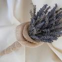 Levendula csokor perkin, Dekoráció, Esküvő, Esküvői dekoráció, Virágkötés, Szeretem a levendulát szárított, csokorba kötött formájában is. Az illatát, a színét, a hangulatot,..., Meska