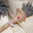 Levendula csokor cerceruska, Esküvő, Mindenmás, Esküvői csokor, Esküvői dekoráció, Virágkötés, Szeretem a levendulát szárított, csokorba kötött formájában is. Az illatát, a színét, a hangulatot,..., Meska