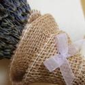 Levendulacsokor szőlőszín, Dekoráció, Esküvő, Otthon, lakberendezés, Ünnepi dekoráció, Virágkötés, Szeretem a levendulát szárított, csokorba kötött formájában is. Az illatát, a színét, a hangulatot,..., Meska