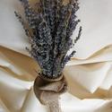 Levendula csokor rusztikus, Dekoráció, Esküvő, Ünnepi dekoráció, Esküvői dekoráció, Virágkötés, Szeretem a levendulát szárított, csokorba kötött formájában is. Az illatát, a színét, a hangulatot,..., Meska