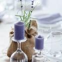 Levendulatövek esküvői asztalra dekorációként , Esküvő, Esküvői dekoráció, Virágkötés, Cserepes levendulatövek asztali dekorációra tervezve vintage hangulatot, levendula illatot árasztva..., Meska