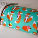 Minky vastag baba takaró -Fabulous Foxes aqua pamut és fehér Minky, Baba-mama-gyerek, Baba-mama kellék, Gyerekszoba, Falvédő, takaró, Varrás, Pihe-puha bélelt Minky takaró Egyik oldala 100% pamut designer textil, rókakisasszonyok menta alapo..., Meska