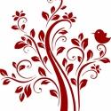 Falmatrica/faltetoválás - Madaras fa, Dekoráció, Otthon, lakberendezés, Falmatrica, Dísz, Fotó, grafika, rajz, illusztráció, Mindenmás, Termékleírás:  A falimatrica mérete: kb. 47 x 70 cm A falimatrica anyaga: speciális öntapadós vinyl..., Meska