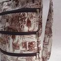 Textilbőr táska, Táska, Mindenmás, Ruha, divat, cipő, Válltáska, oldaltáska, Varrás, RENDELHETŐ , ELKÉSZÍTÉSI IDŐ 1 HÉT !!!!  Textilbőrből készítettem, elől 3 cipzáras zseb van rajta. ..., Meska