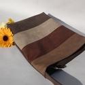 Textilbőr táska, Táska, Mindenmás, Ruha, divat, cipő, Válltáska, oldaltáska, Varrás, RENDELHETŐ , ELKÉSZÍTÉSI IDŐ 1 HÉT !!!!  Textilbőrből készítettem.  A4-es könyvek kényelmesen elfér..., Meska