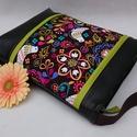 Mintás  textilbőr táska, Táska, Mindenmás, Ruha, divat, cipő, Válltáska, oldaltáska, Varrás, RENDELHETŐ , ELKÉSZÍTÉSI IDŐ 1 HÉT !!!!   Textilbőrből és amerikai pamutból készítettem.  A4-es kön..., Meska