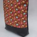 Textilbőr női táska., Táska, Mindenmás, Ruha, divat, cipő, Válltáska, oldaltáska, Varrás, RENDELHETŐ , ELKÉSZÍTÉSI IDŐ 1 HÉT !!!!   Textilbőrből és amerikai pamutból készítettem.  A4-es kön..., Meska