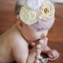Kecses- elegáns virág hajpánt, Ruha, divat, cipő, Hajbavaló, Hajpánt, Mindenmás, Varrás, Egyedi, saját tervezésű fejpánt!! Tökéletes fotókellék!!   Régies hangulatú, 1920-as éveket idéző s..., Meska